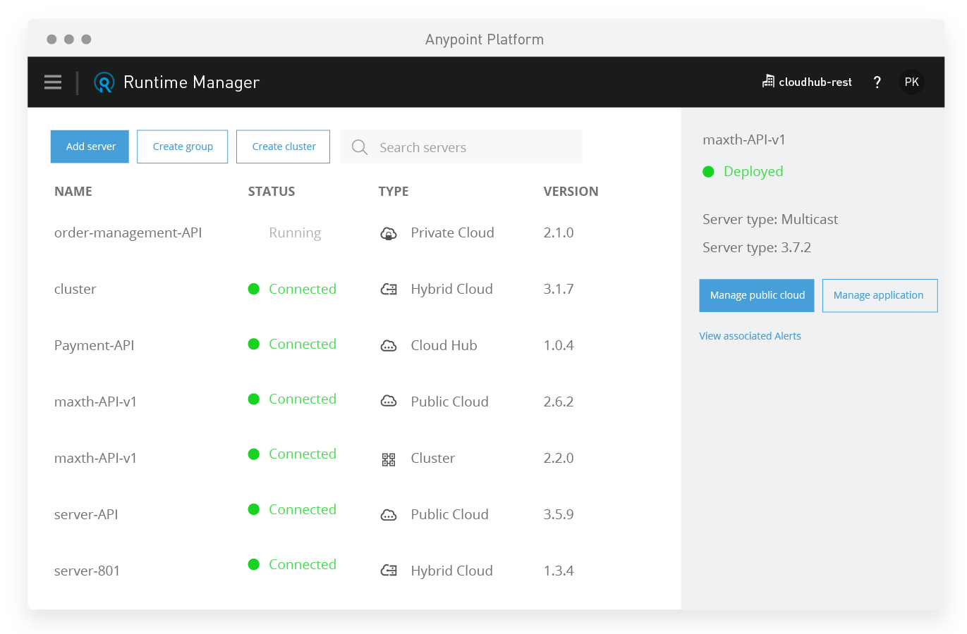 Run applications with Anypoint Platform