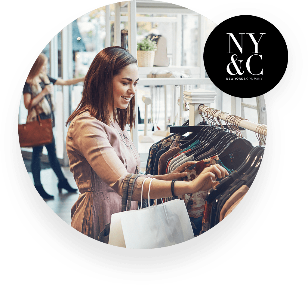 NY&C customer shopping for clothes