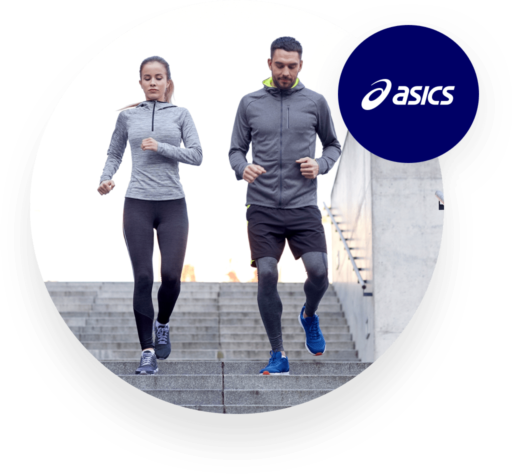ASICS customers jogging