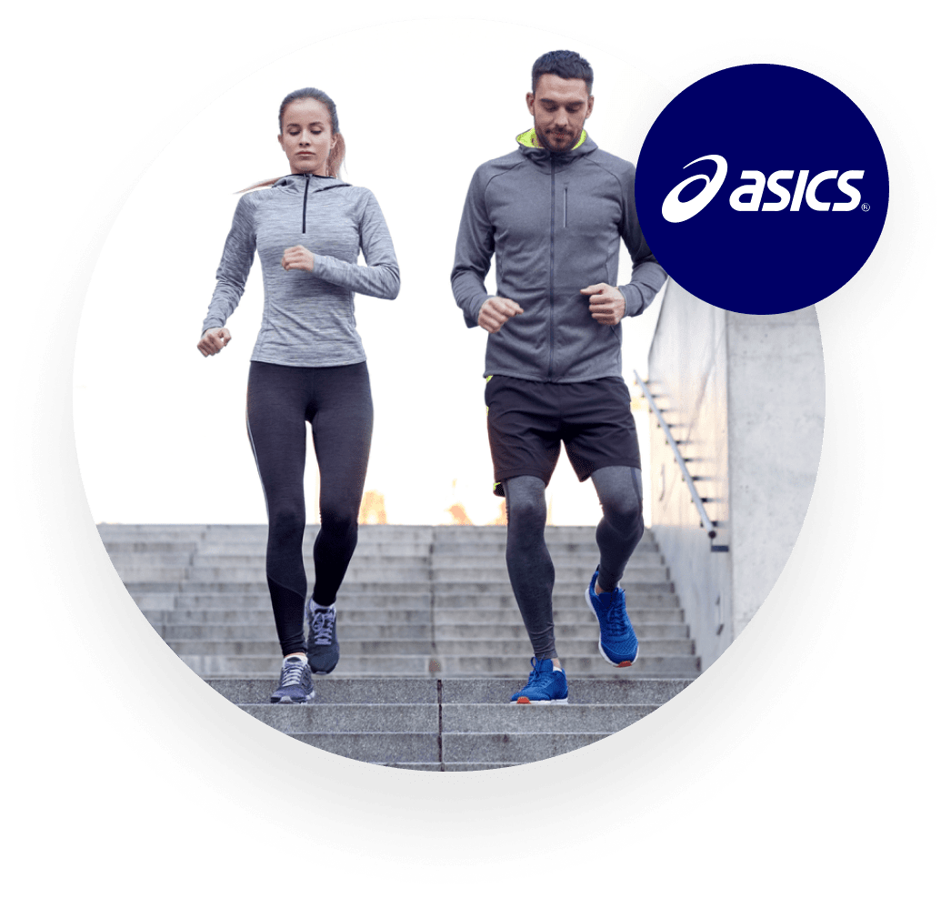 ASICS runners training on staircase