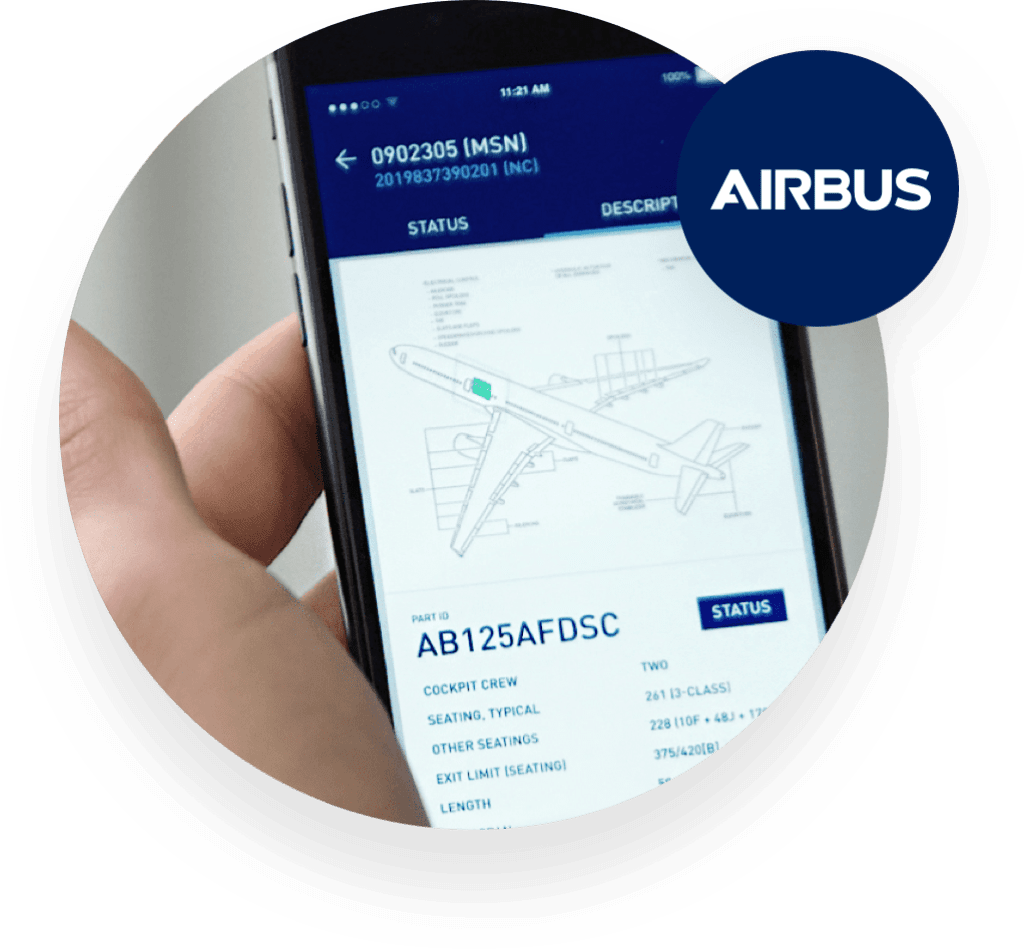 Airbus smartphone with API screen