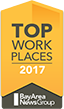 2017 Top Work Places Bay Area News Group Award